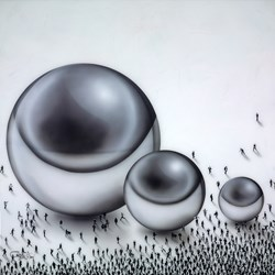 Relativity Trio by Craig Alan - Mixed Media sized 36x36 inches. Available from Whitewall Galleries